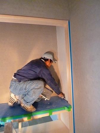 塗り壁下地も完了