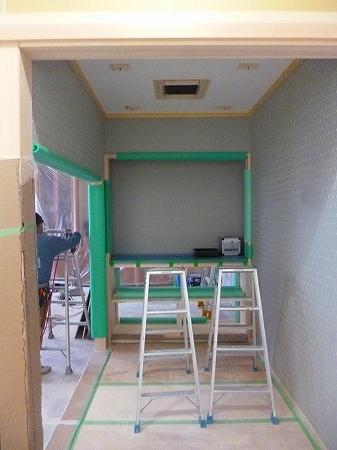 さぁ次工程では天井の塗装になります