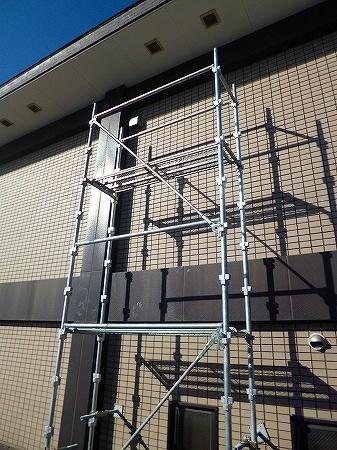 外壁には換気配管用の穴を新設  換気フードも取付完了しました