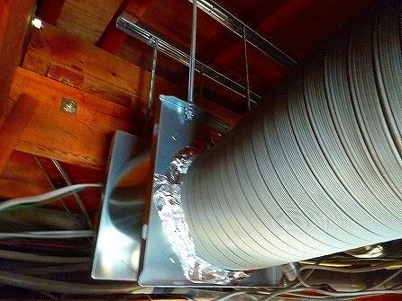 換気扇本体も天井内に設置致しました