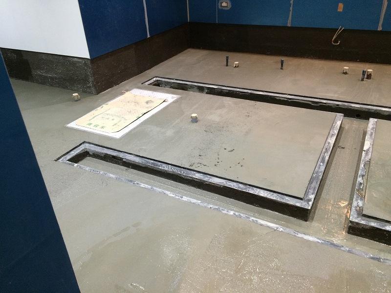 ってことで仕上げの床勾配モルタル塗り